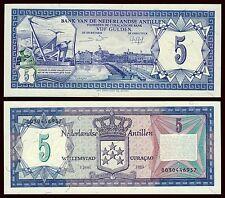 Antillas Holandesas - Netherlands Antilles 5 Gulden 1-6-1984 Pick 15b  SC = UNC
