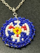 Native American Vintage Hand Beaded Charms Phoenix D903