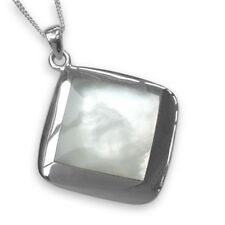 Sterling Silver Polished Mother Of Pearl Pendant