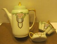 1920's Hand Painted Porcelain 4 Piece TEA SET Signed PEARL LOVE MILLER Super!!!!