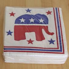 VINTAGE 1996 REPUBLICAN POLITICAL ELEPHANT PAPER ART NAPKINS UNOPENED 2 PACKS