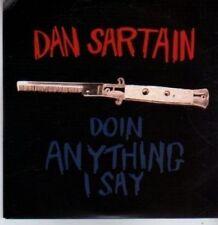 (BR225) Dan Sartain, Doin Anything I Say - DJ CD