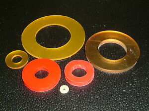10 Polyurethane Washers- I/D's from 1.8mm up to 34.2mm, 9 different sizes