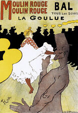 ART DECO-famoso LAUTREC-Moulin Rouge-A3 Stampa Artistica Poster