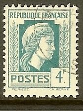 "FRANCE TIMBRE STAMP N°643 "" MARIANNE D'ALGER 4F "" OBLITERE TB"