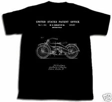 HARLEY DAVIDSON MOTORCYCLE PATENT SHIRT XL TShirt Extra Large HD Willie William