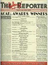"1938 HOLLYWOOD REPORTER ""LIFE OF EMILE ZOLA"" WINS OSCAR"