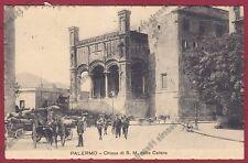 PALERMO CITTÀ 129 CARRO CARRETTI Cartolina viaggiata 1915