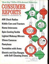 Consumer Reports Magazine November 1970 Clock Radios VGEX w/ML 020617jhe