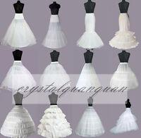 UK Wedding Dress Bridal Petticoat Prom Hoops Mermaid Ladies Underskirt Crinoline