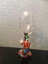 Disney Goofy Figure Wine Glass xx