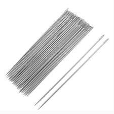 "30 Pcs Silver Tone Metal Sewing Needles 3.5"" Long D4Q2"