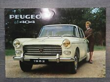CATALOGUE BROCHURE PROSPEKT PEUGEOT 404 DE 1962
