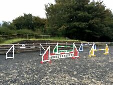 5 PAIRS HORSE SHOW JUMPS POLES/FILLERS/KEYHOLE TRACKS BRISTOL SHOW JUMPS (RBYGB)