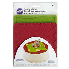 Wilton Texture Mat Set - Grass Brick - Cake Decorating Grass Brick Cake Cookie