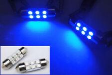 2x BLUE 6 SMD LED DE3175 DE3022 for HONDA Interior Dome Light 31mm Festoon Bulb