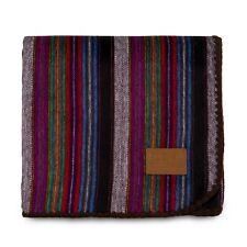 Alpaca Wool Blanket Soft Throw Warm 85�x65� Sofa Couch - Purple Earth