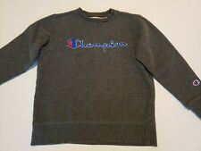 Champion Sweater Kids Size 8 Dark Gray Pullover Sweater