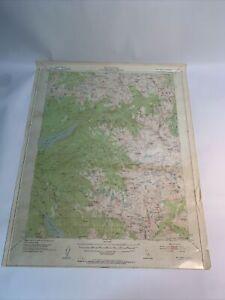 US Geological Survey Mt. Abbot Quadrangle Ca. Topographic Map 1953  Vintage