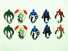10pcs 1.0mm Movie The Avengers Guitar Picks Plectrums Printed Both Sides