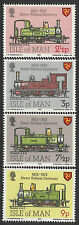 ISLE OF MAN 1973 STEAM RAILWAY CENTENARY TRAINS 4v MNH