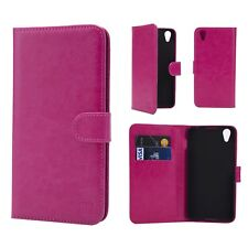 32nd Book Wallet PU Leather Case Blackberry Dtek50 Screen Protector & Stylus Hot Pink