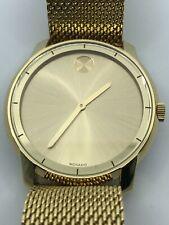 MOVADO Bold Gold Dial Gold-tone Mesh Men's Watch 3600373