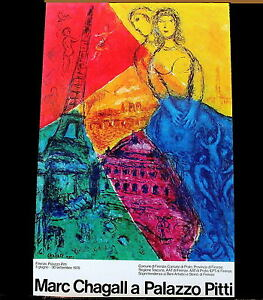 """Marc Chagall a Palazzo Pitti Original Poster From 1978 (39""""x25"""")"""