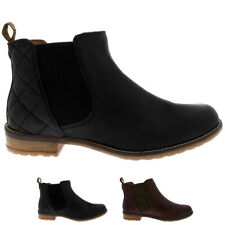Womens Barbour Abigail Leather Winter Casual Low Heel Smart Ankle Boots UK 3-8