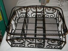 Black 14 x 12 Picnic Or Crafts Metal Organizer With Handles