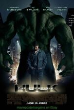 THE INCREDIBLE HULK MOVIE POSTER Original DS 27x40 Advance 2008 EDWARD NORTON