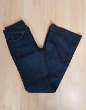 Warehouse Flared Dark Denim Jeans Size UK 10 L Long VGC