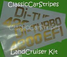 Di turbo 4200 EFI Gold Pair Stickers Decal suit Landcruiser 79 series