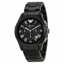 Emporio Armani AR1400 Black Ceramic Chronograph Mens Watch