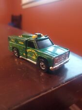 Hot Wheels 1974 Forest Service Fire Truck Green Diecast Goodyear Tire Yellow Hub