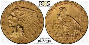 PCGS MS64 CAC 1928 $2.5 Indian Head Gold Coin.! OGH.! GEM BU.!