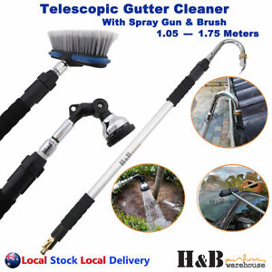Telescopic Gutter Cleaner Cleaning Tool Wand Car Washer Brush