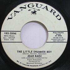 Rock Promo 45 Joan Baez - The Little Drummer Boy / Cantique De Noel On Vanguard