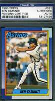Ken Caminiti Psa Dna Coa Autograph 1990 Topps Authentic Hand Signed