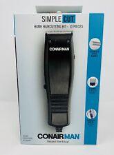 Conair Man Simple Cut Corded Hair Clippers Home Haircutting Kit 10-Pieces