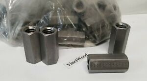 """3/4-6 Acme Coupling Nut (2 Pieces) Right Hand,1"""" Wide Hex x 2-1/4"""" Long. USA"""