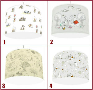 """Winnie the Pooh Unisex CEILING LAMPSHADE 4 DESIGNS IN 2 SIZES 10"""" & 12"""""""