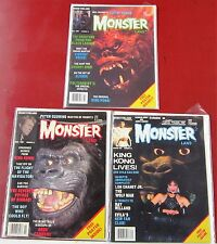 Monster Land Magazine--3 back issues all King Kong related