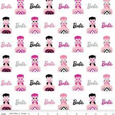 Barbie Fabric by the Yard or Half Yard, Main White
