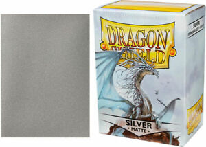 Dragon Shield Sleeves: Matte - Silver (100)