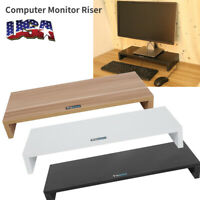 Computer Monitor Riser Desk Table LED TV Stand Shelf Desktop Laptop Riser