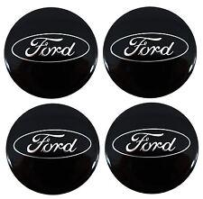 4x Genuine Ford Fiesta MK7 2008 onwards Gloss Black Alloy Wheel Centre Cap Trims