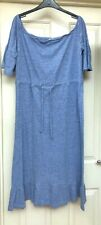 Lost Ink Blue Ribbed Textured Dress Size 20