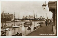 Dorset Weymouth The Harbour Real Photo Vintage Postcard 29.5