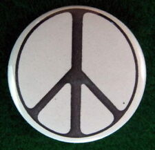PEACE SIGN PINBACK BUTTON PIN BADGE 1980's